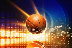 抽象篮球 免版税库存照片