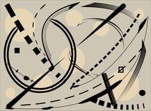 抽象米黄灰色背景,想象弯曲的形状18 110 库存例证