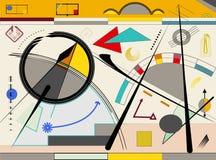 抽象米黄背景,表现主义艺术样式-18-106 向量例证
