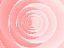 抽象粉红色上升了 库存例证