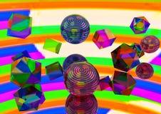 抽象糖糖果,塑料lolipop,概念酸下落 幻觉、精神狂欢、催眠状态和hypnosism 图库摄影