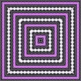 抽象紫罗兰色万花筒正方形构筑样式 免版税库存照片