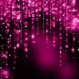 抽象紫色圣诞灯 免版税库存图片