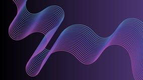 抽象紫色背景,五颜六色的线 图库摄影