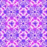抽象紫色花卉样式,紫罗兰色铺磁砖的纹理背景,无缝的例证 皇族释放例证
