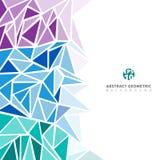 抽象紫色,蓝色,绿色几何和三角样式为 库存例证