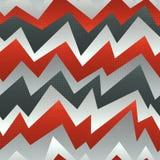 抽象红色与难看的东西作用的之字形无缝的样式 免版税库存照片