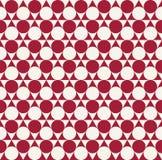 抽象红色几何小点deco样式传染媒介 免版税库存图片