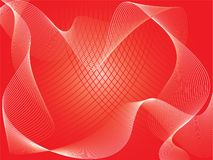 抽象红色向量 免版税库存照片