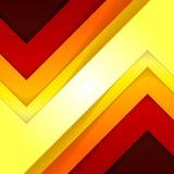 抽象红色和橙色三角塑造背景 免版税库存图片