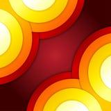 抽象红色和橙色圈子传染媒介背景 免版税库存图片