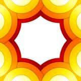 抽象红色和橙色圈子传染媒介背景 免版税库存照片