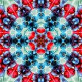 抽象红色和蓝色样式背景纹理 库存图片
