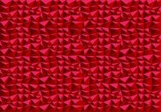 抽象红色多角形样式背景纹理传染媒介 库存照片