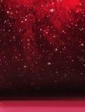 抽象红色多雪的圣诞节背景 免版税库存照片