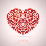 抽象红色心脏 库存图片