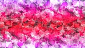 抽象红色桃红色颜色bokeh墙纸 免版税库存图片