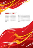 抽象红色模板 免版税图库摄影