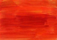 抽象红色橙色背景绘画 图库摄影