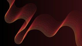 抽象红色波浪背景,墙纸 向量例证