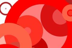 抽象红色盘旋例证背景 库存图片
