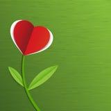 抽象红色纸心脏树 库存图片