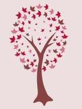 抽象红色结构树 向量例证