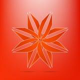 抽象红色花象典雅的容量曲线剥离现代 免版税图库摄影