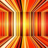 抽象红色,橙色和黄色减速火箭的条纹五颜六色的背景 免版税库存图片