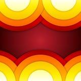 抽象红色,橙色和黄色圆形backg 免版税库存图片