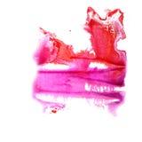 抽象红色,紫罗兰色图画冲程墨水水彩 免版税图库摄影