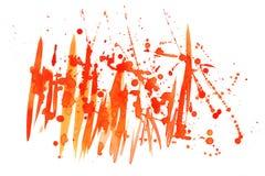 抽象红色水彩飞溅 免版税库存照片
