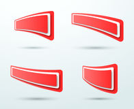 抽象红色3d正文框模板4集合传染媒介 免版税图库摄影