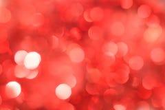 抽象红色bokeh 圣诞节背景纹理 免版税图库摄影