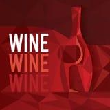 抽象红葡萄酒概念 皇族释放例证