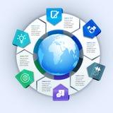 抽象纸企业infographics元素 免版税库存图片