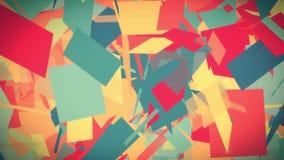 抽象纸保险开关运动的块红色黄色蓝色动画背景-新的质量普遍行动动态生气蓬勃 库存例证