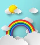 抽象纸彩虹 也corel凹道例证向量 免版税库存图片