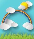 抽象纸彩虹 也corel凹道例证向量 免版税库存照片