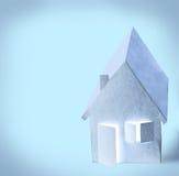 抽象纸房子 免版税库存图片
