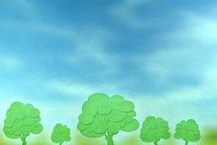抽象纸结构树 免版税库存照片