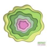 抽象纸雕刻绿色背景 图库摄影