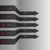 抽象纸infografics 黑箭头 向量 免版税库存图片