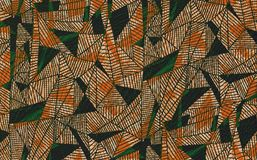 抽象纹理三角,背景的种族样式 免版税库存照片