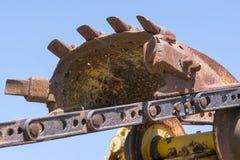 抽象纹理和形状:挖掘机的机器零件 图库摄影