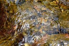 抽象纹理河小河小河,在岩石的水 免版税库存照片