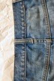抽象纹理牛仔裤 库存图片