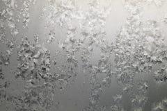 抽象纹理,在窗口的样式霜 库存图片