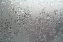 抽象纹理,在窗口的样式霜 免版税库存图片