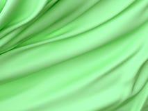 抽象纹理,绿色丝绸 免版税库存照片
